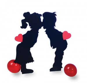 Kissing Kids Standee