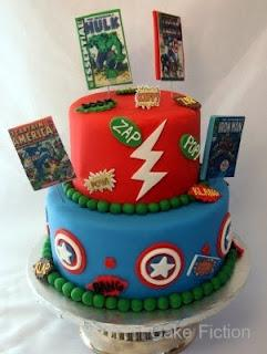 Avengers Comic Book Hero Cake
