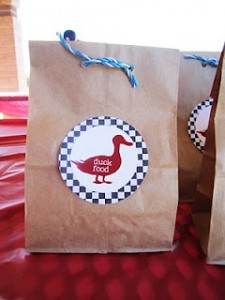 Duck Food Farm party favor