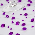 Purple Sparkling Table Gems