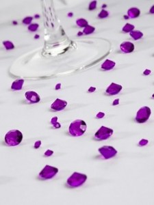 Purple Sparkling Table Gems