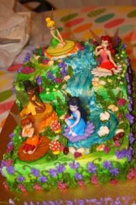 Disney fairy cake scenes