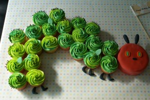a very hungry caterpillar cupcakes