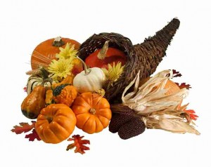 Thanksgiving autumn party cornucopia