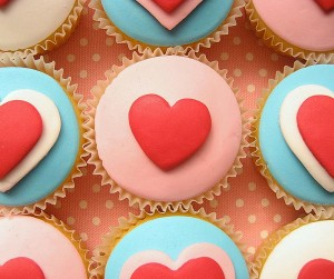 cupcake design valentines day