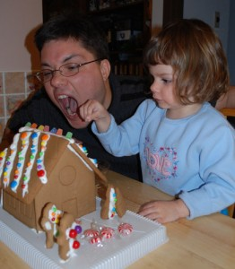 daddy gingerbread house