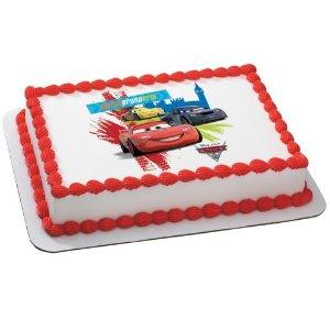 disney cars edible cake topper