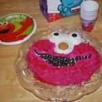 elmo cake finished