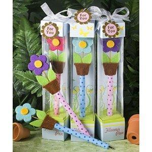 flower pens baby shower favors