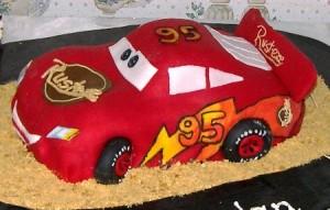 Party Food Ideas Lightning McQueen Cars Birthday Cake