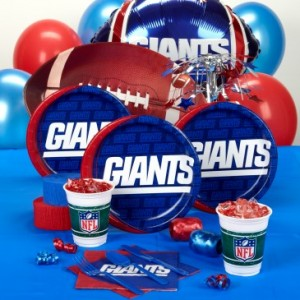 New York Giants party supplies
