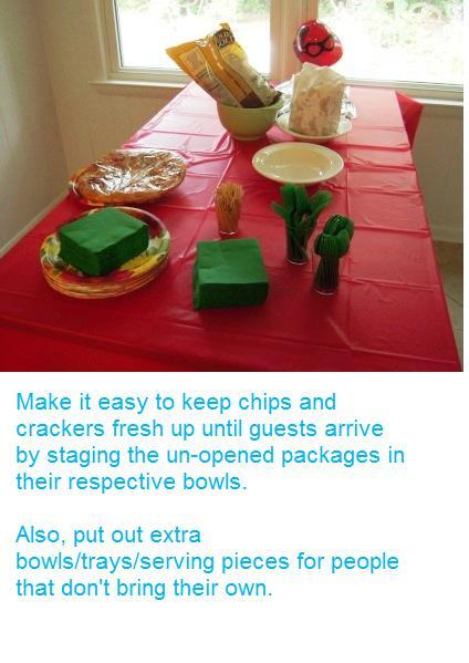 Setting the table for your party