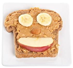 Peanut Butter Banana Happy Face