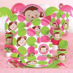 pink mod monkey party