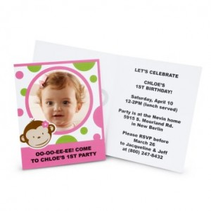 pink monkey invitations