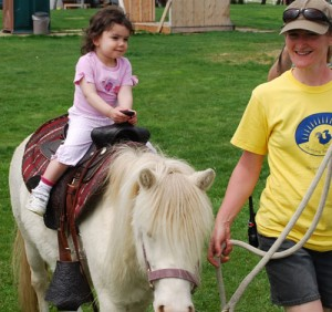 pony rides for barnyard birthday