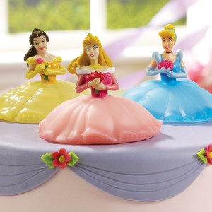 Disney princess light up cake toppers