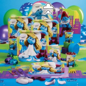 smurfs party supply kit