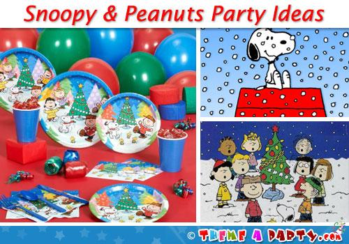 snoopy christmas party ideas