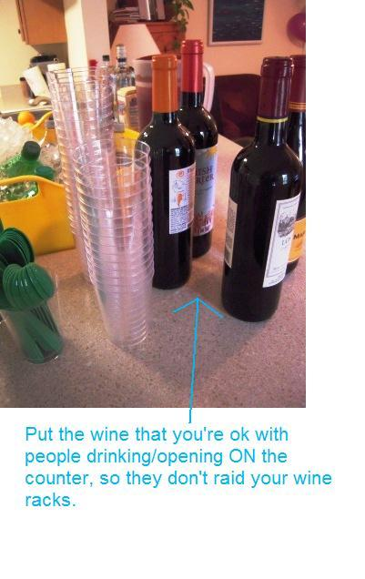Area for the wine at your party