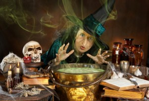 Halloween witch cauldron party