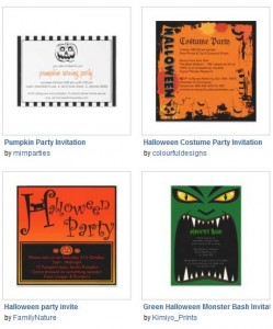 Zazzle Halloween invites